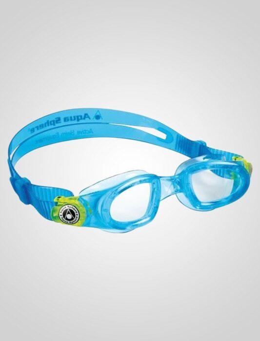 Aqua Sphere Moby Junior- Klar linse (blå)
