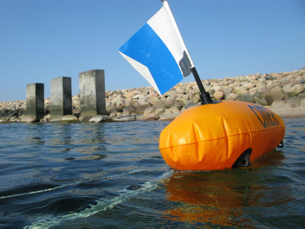 Dykkerflag til søs