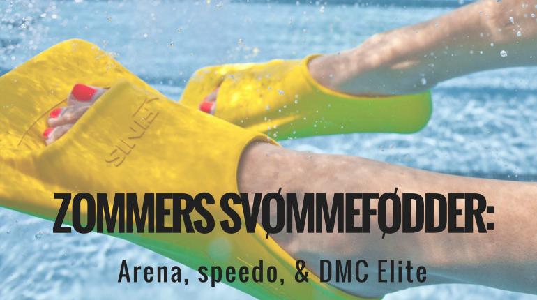 Zoomers svømmefødder Arena svømmefødder, Speedo finner & DMC Elite svømme fødder