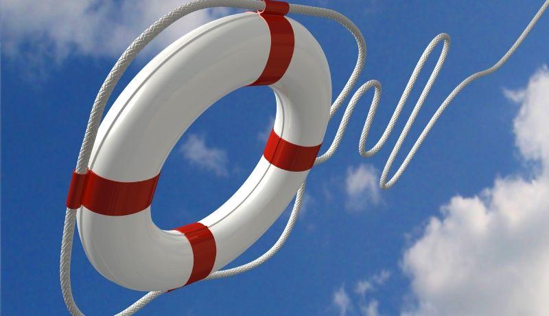 redningskrans til båd