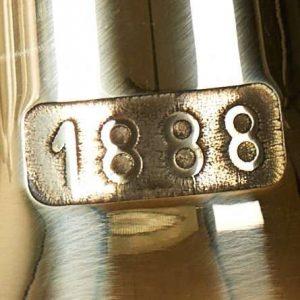 gammel brugt 1888 messing klokke til skibe og barer
