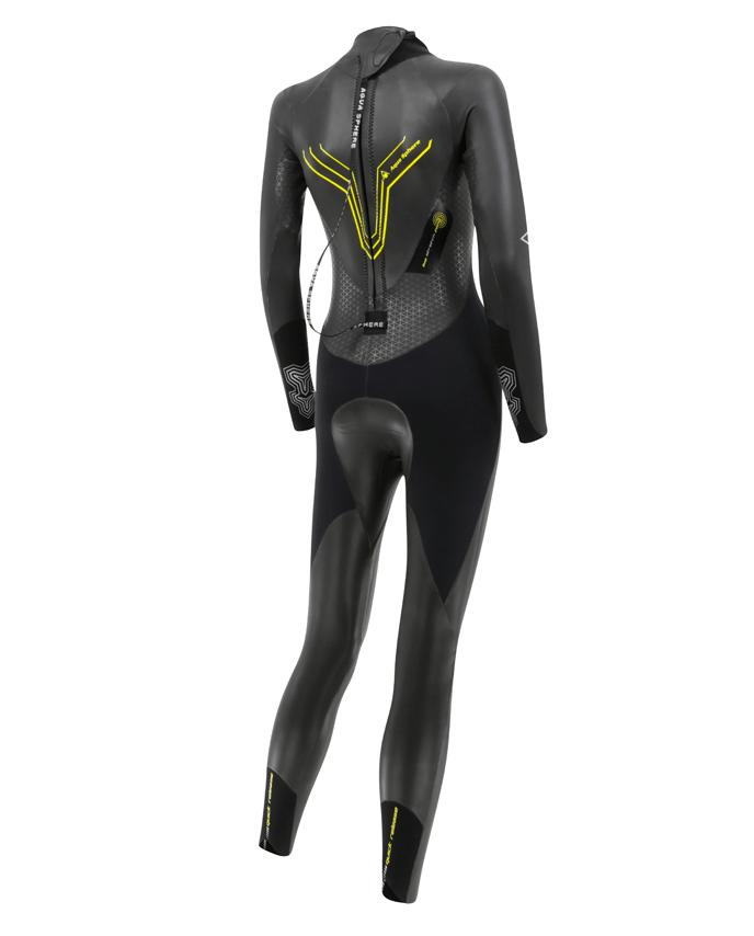 Aqua Sphere Pursuit dame begynder våddragt til triathlon bagside