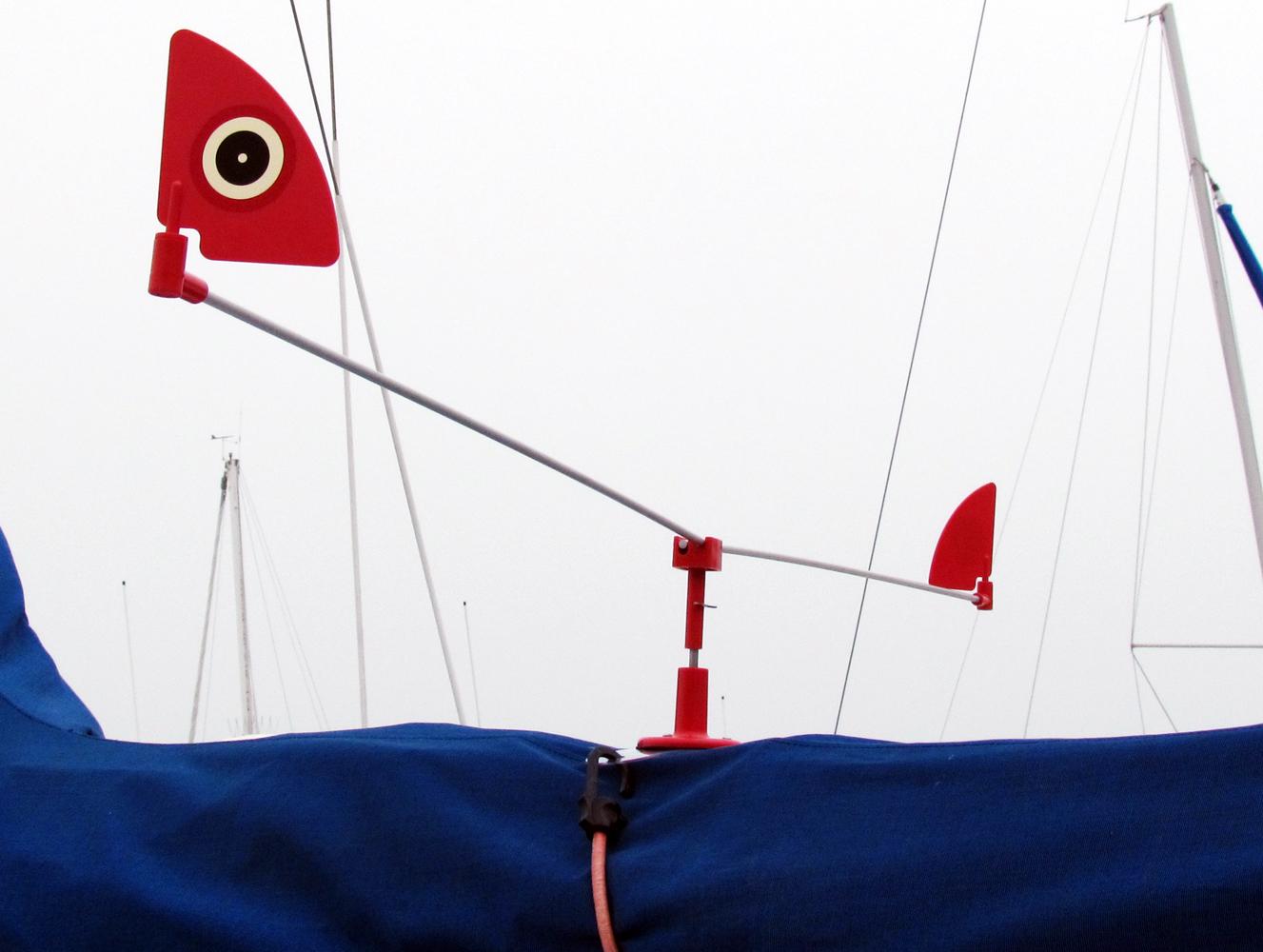 Stor mågeskræmmer til båd