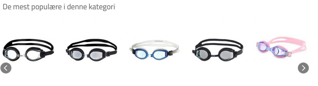 svømmebriller oversigt rygcrawl