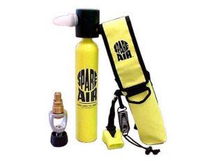 mini dykkerflaske med mundstykke