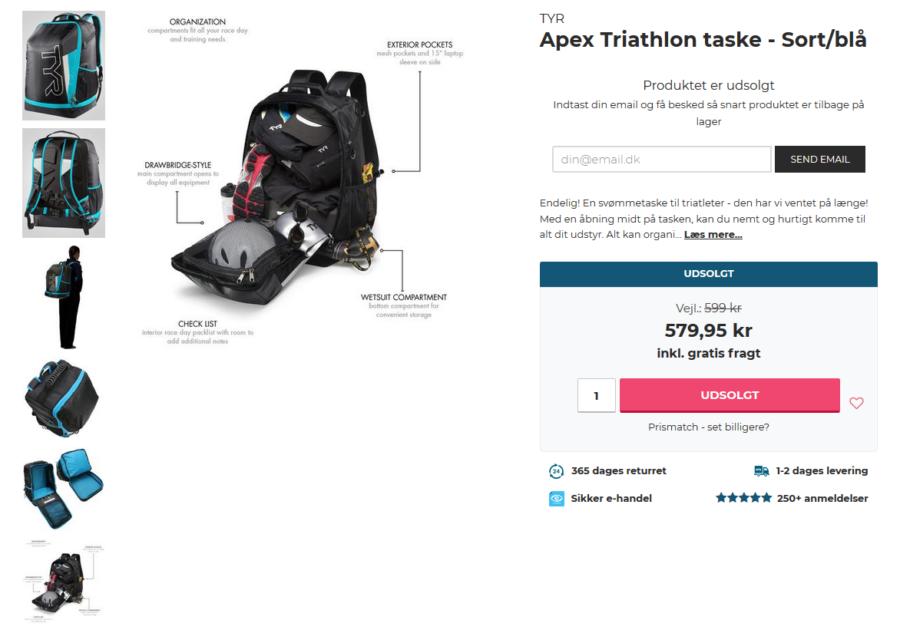 APEX Triathlon taske fra TYR