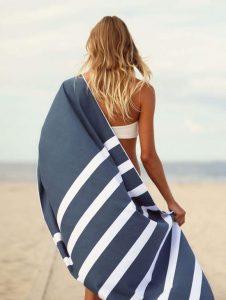 Summersand Håndklæde - Deep Blue (Mørkeblå)