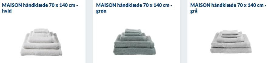 maison bedste håndklæder