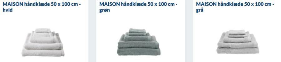 maison gode håndklæder