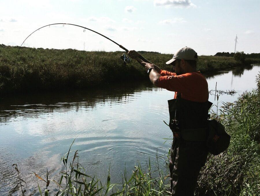 Endegrej fiskestang